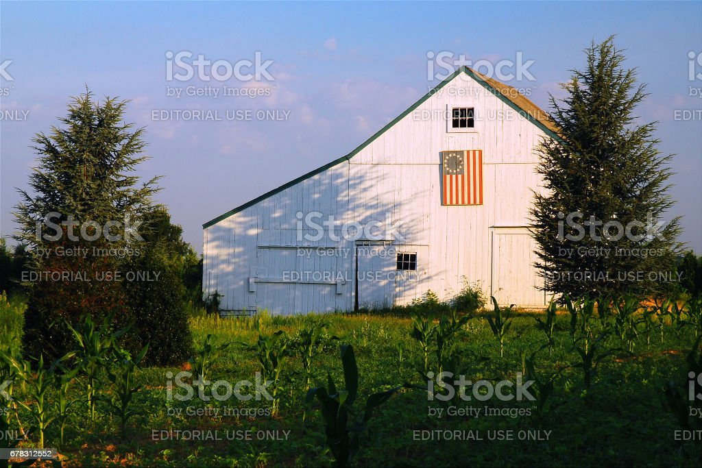 Patriotic Barn stock photo