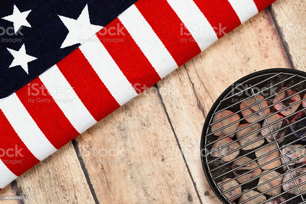 Patriotic BBQ Grilling stock photo