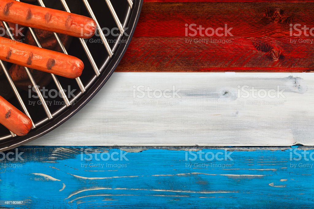 Patriotic BBQ stock photo