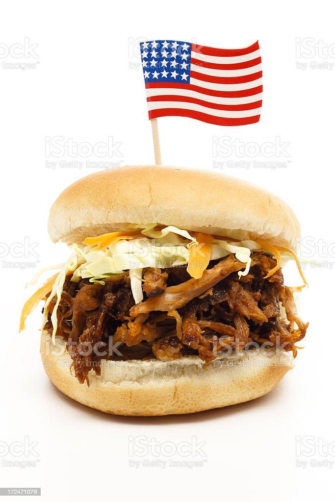 Patriotic BBQ Sandwich royalty-free stock photo
