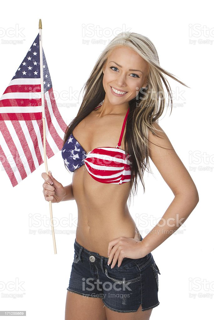 patriotic beauty concept stock photo