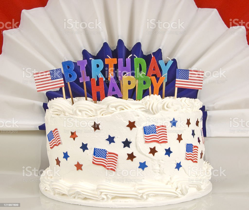 Patriotic Birthday Cake Stock Photo More Pictures Of Birthday Istock