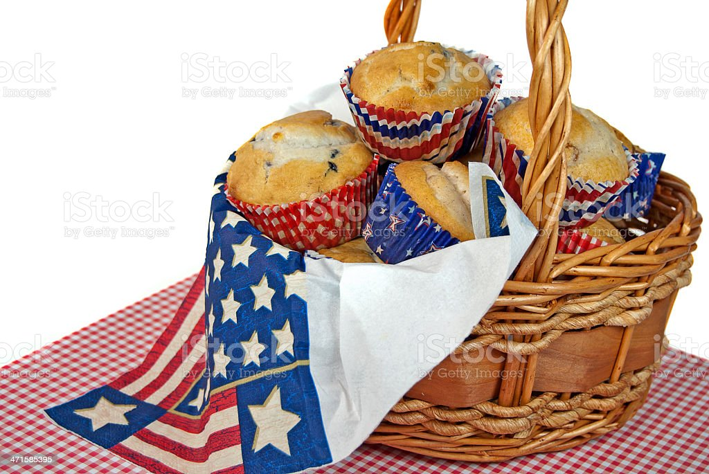 patriotic blueberry muffins royalty-free stock photo