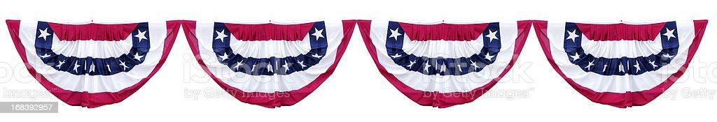 Patriótica Fazendo Bandeirinha decorações - fotografia de stock