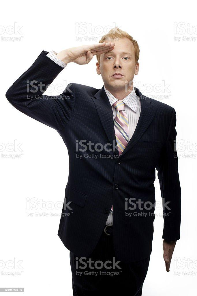 Patriotic Businessman on White royalty-free stock photo