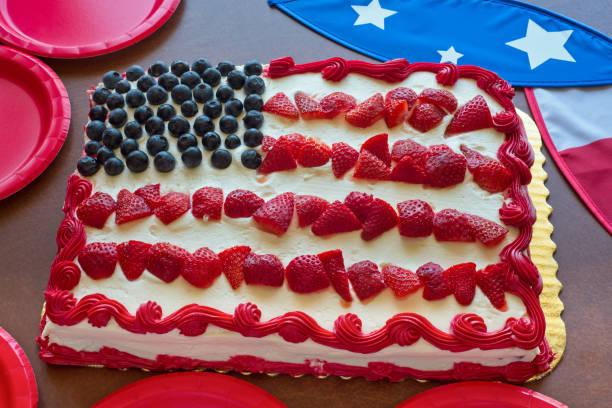 patriotische kuchen und deko - tarte und törtchen stock-fotos und bilder