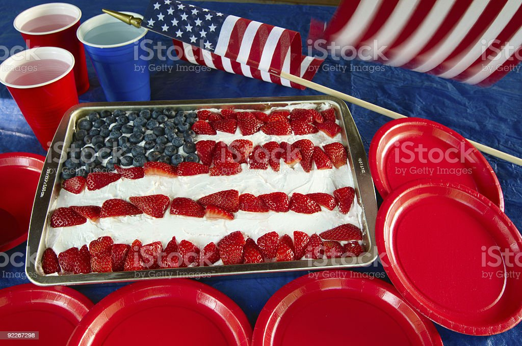 Patriotic cake stock photo