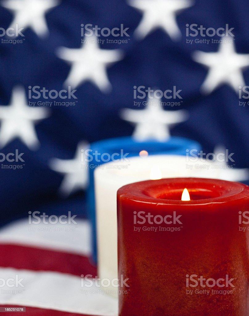 Patriotic Candlelight Vigil stock photo