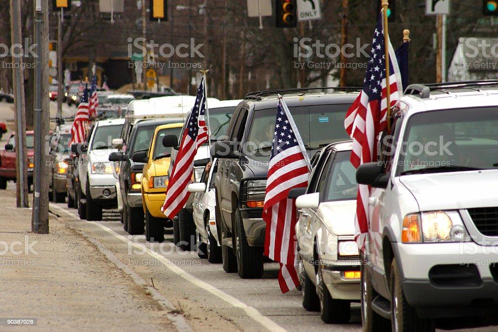 Patriotic Cars stock photo