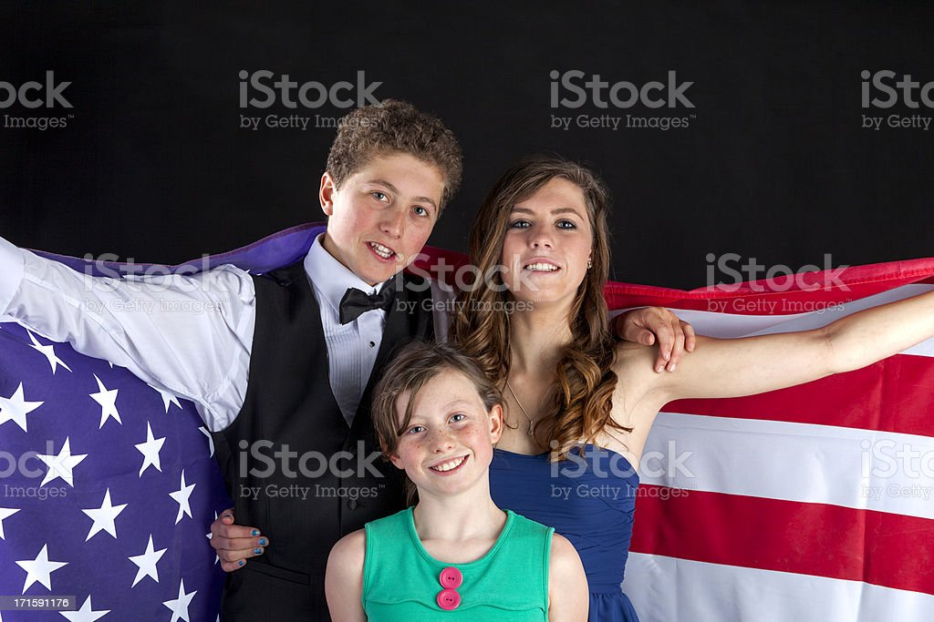 Patriotic Children royalty-free stock photo