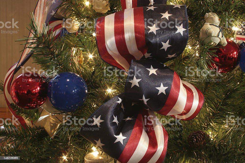 Patriotic Christmas Tree Decorations Stock Photo & More