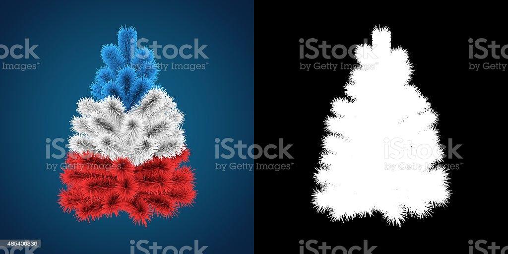 Patriotic Christmas.Patriotic Christmas Tree Of France Stock Photo Download