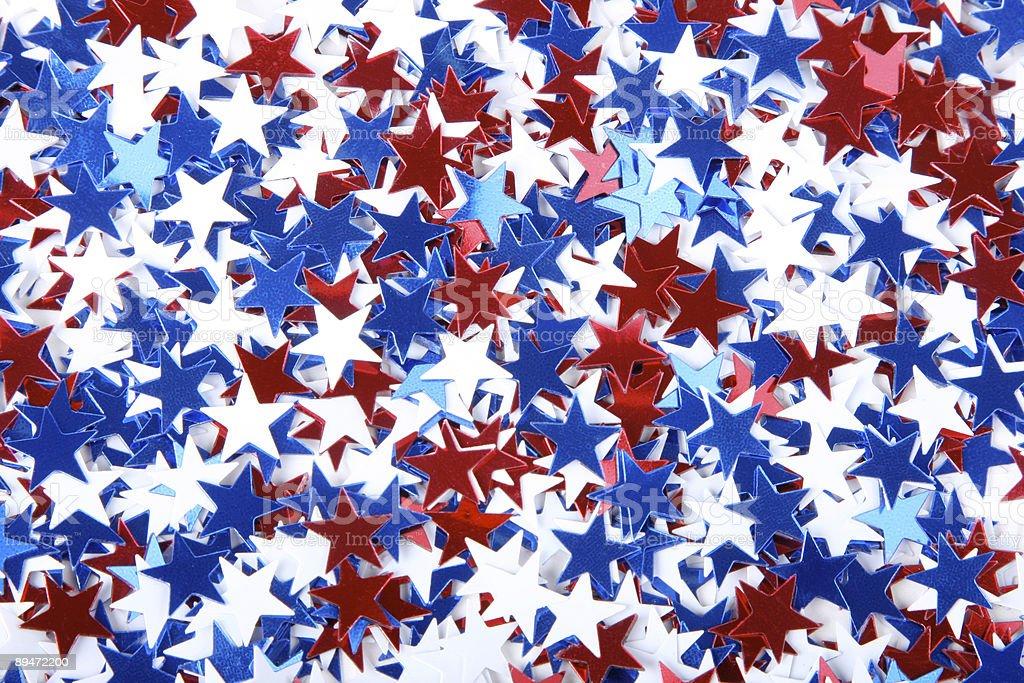 patriotic confetti stock photo