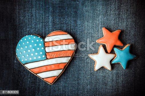 istock Patriotic cookies 511805320