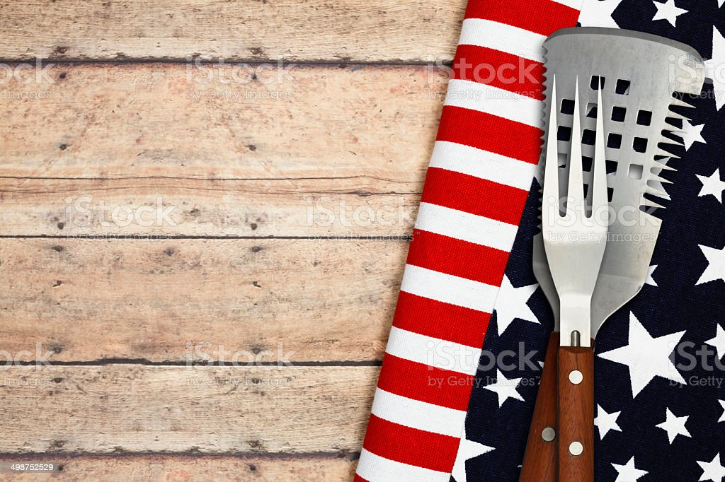 Patriotic Cookout stock photo