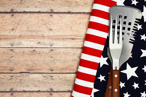 Patriotic Cookout stock photo
