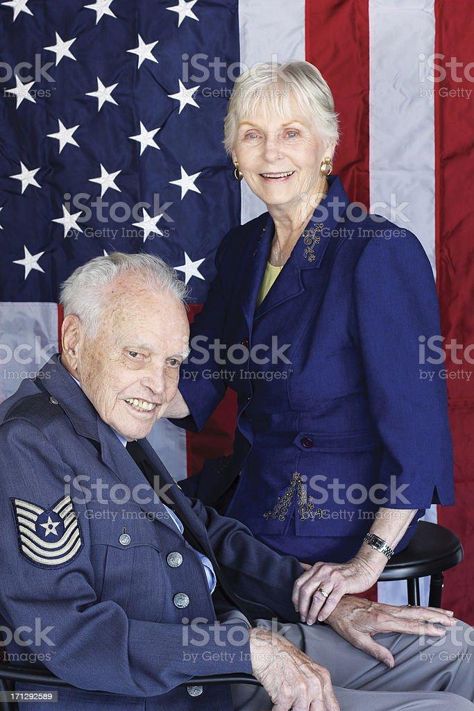 Patriotic couple stock photo