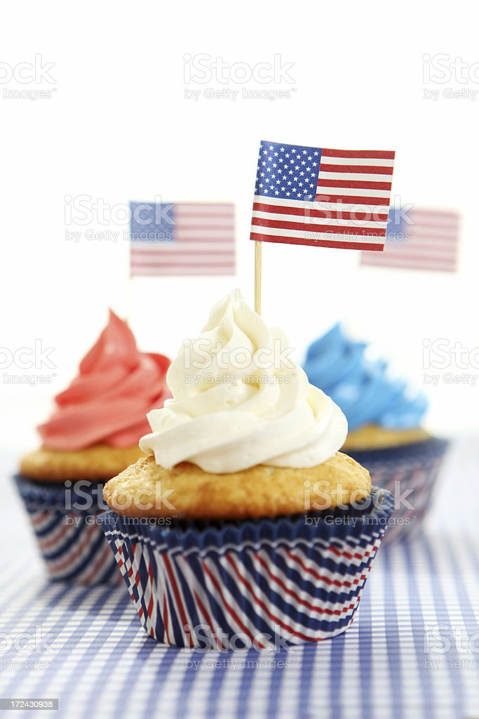 patriotic cupcakes stock photo