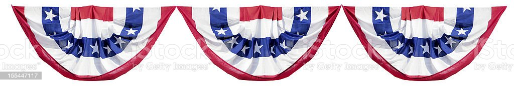 Patriotic Election Bunting Decorations stock photo