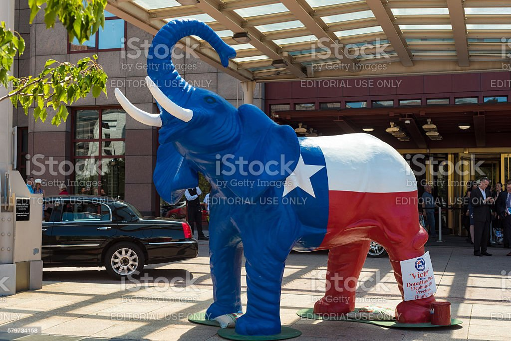 Patriotic elephant stock photo