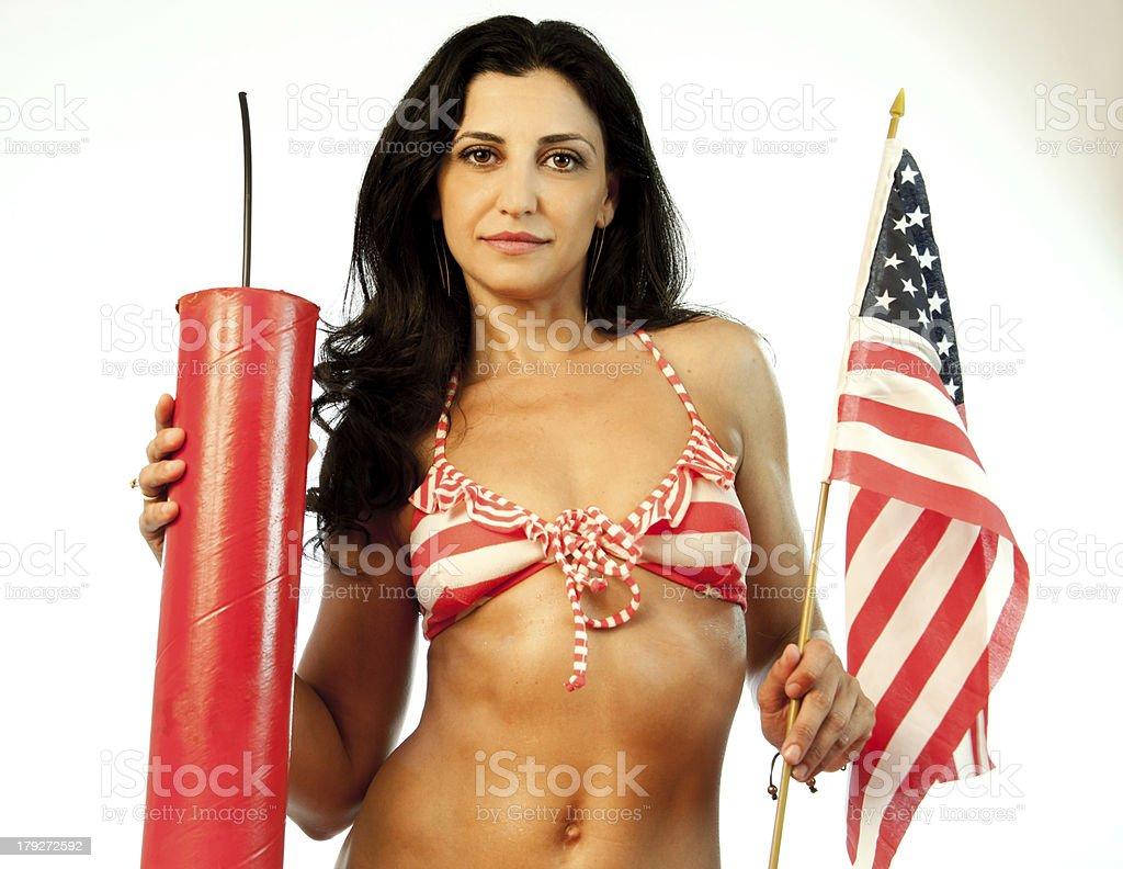 Patriotic Female Model royalty-free stock photo