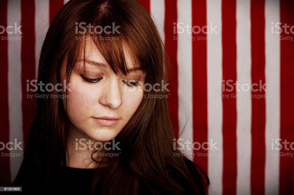 patriotic female teenager portrait royalty-free stock photo