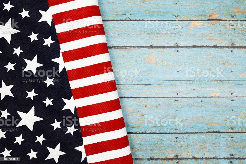 Patriotic Flag Picnic royalty-free stock photo