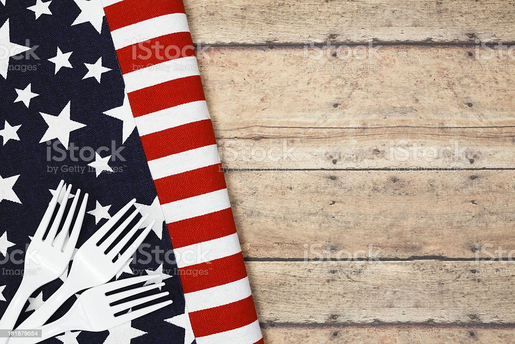 Patriotic Flag Picnic royalty-free stock photo