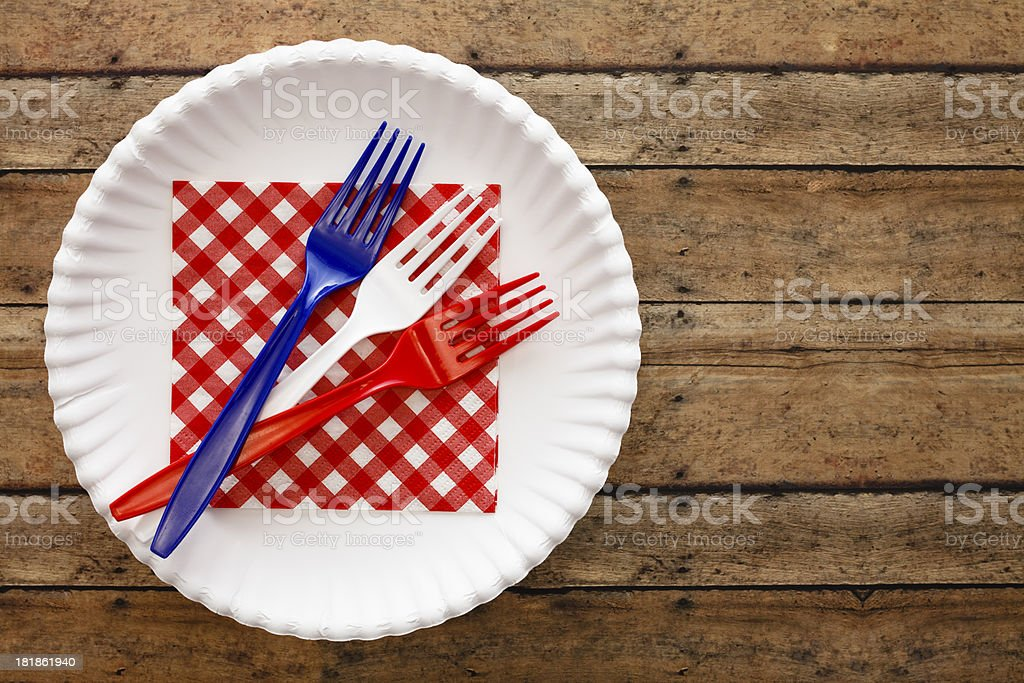 Patriotic Forks royalty-free stock photo