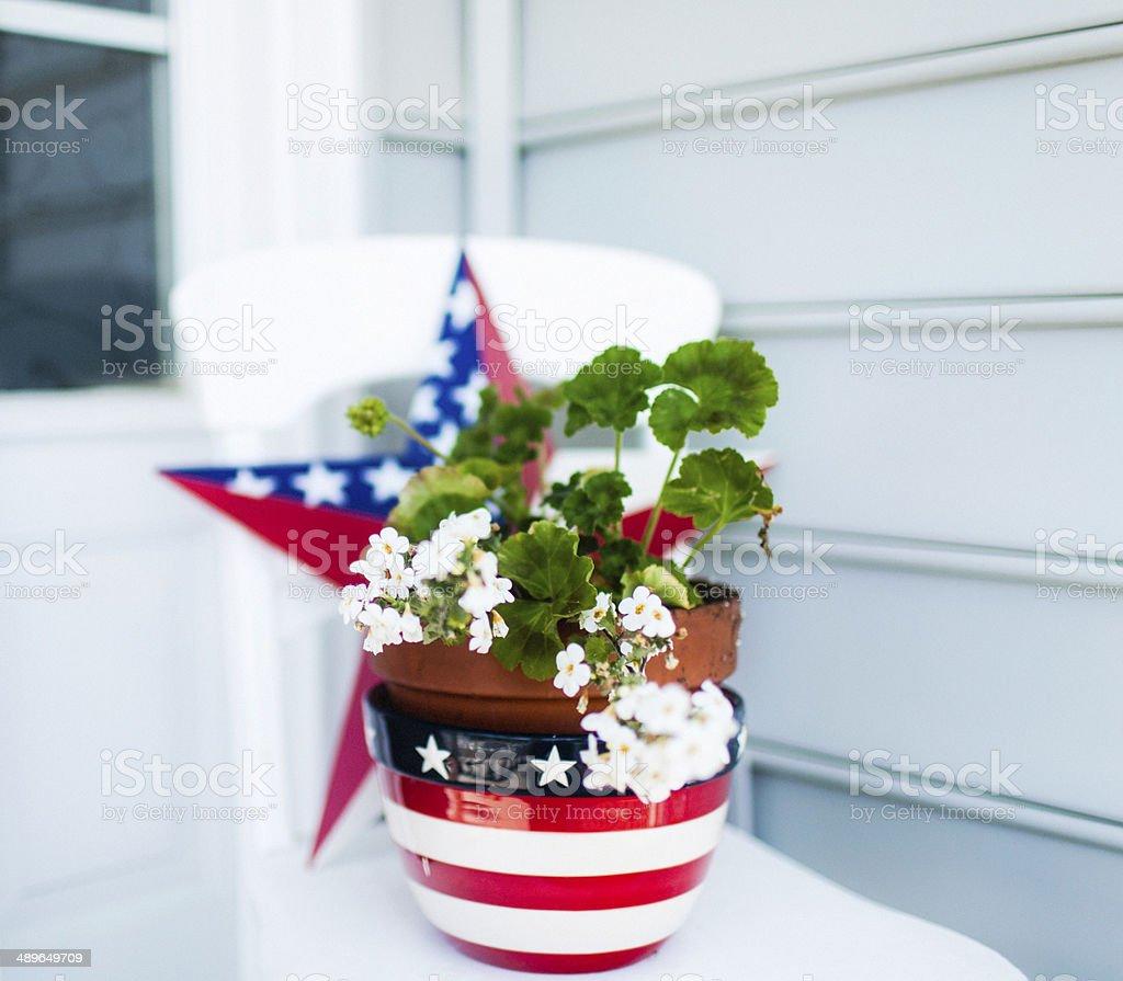 Patriotic Garden Decorations royalty-free stock photo