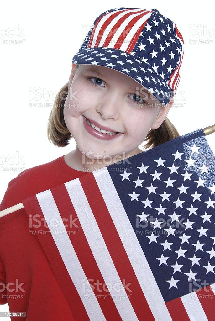 Patriotic Girl royalty-free stock photo