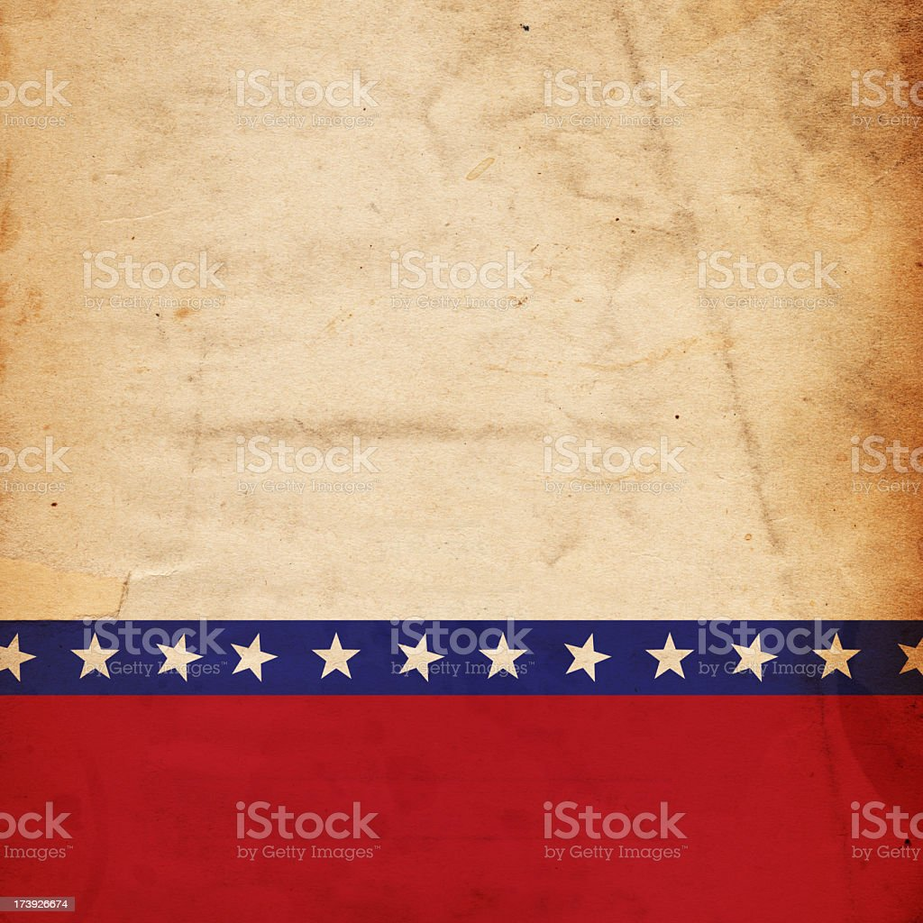 Patriotic grunge paper background royalty-free stock photo