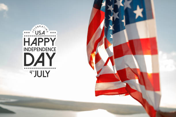Patriotic holiday. 4th of July, Independence day. stock photo