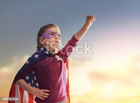539482224 istock photo Patriotic holiday and happy kid 539481644