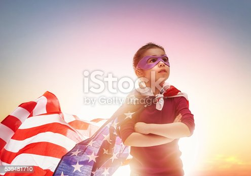 539482224 istock photo Patriotic holiday and happy kid 539481710