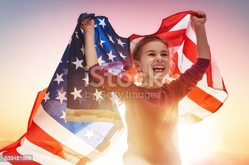 539482224 istock photo Patriotic holiday and happy kid 539481868