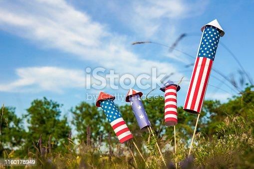 470765518istockphoto Patriotic holiday celebration of independence day 1160178949