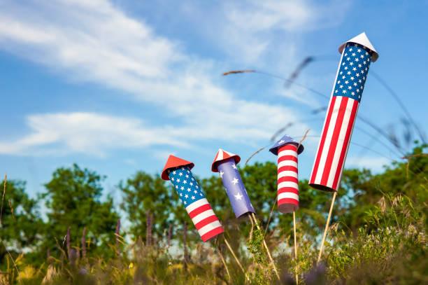 Celebração patriótica do feriado do dia da independência - foto de acervo