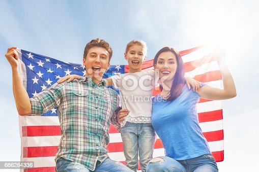539482224istockphoto Patriotic holiday. Happy family 686264336