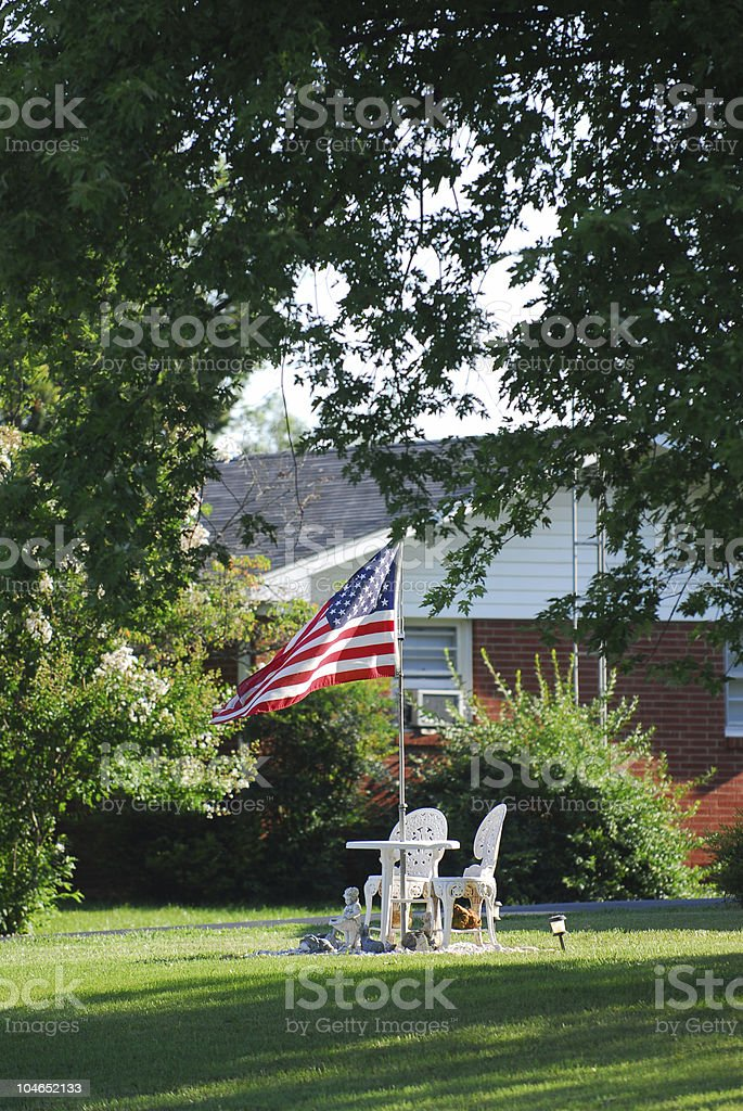Patriotic Home stock photo