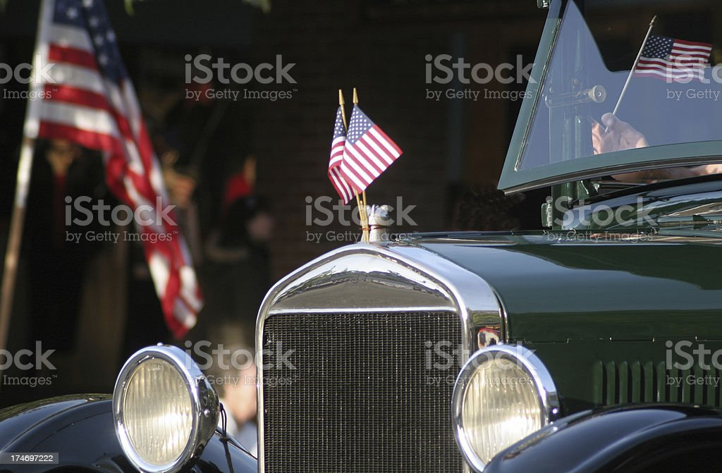 Patriotic Hood Ornament royalty-free stock photo