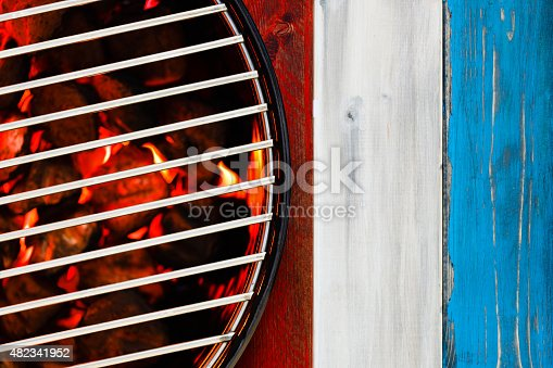 470765518istockphoto Patriotic Hot Grill with Glowing Briquettes 482341952
