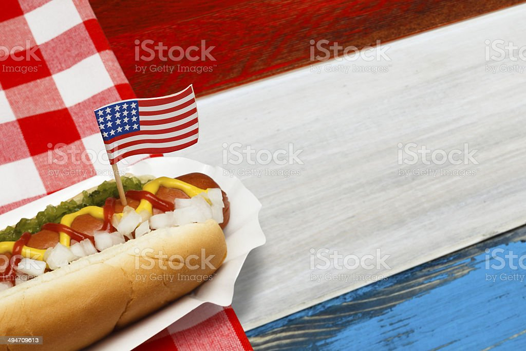 Patriotic Hotdog stock photo
