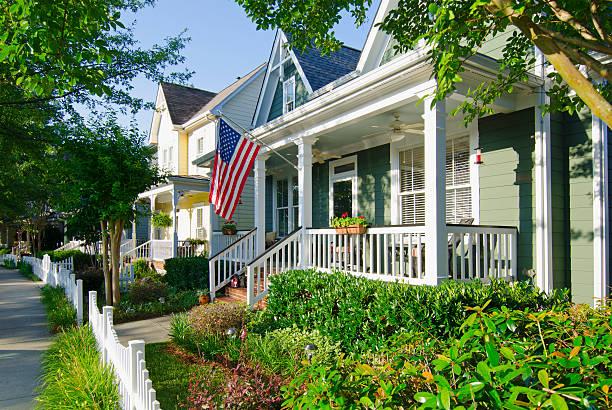 Patriotic House stock photo