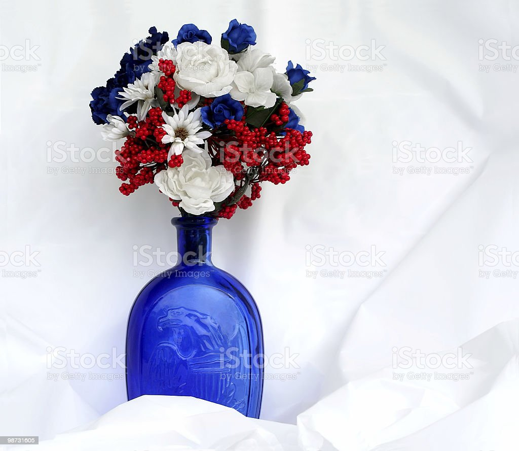 Patriotic July 4th. Flowers stock photo