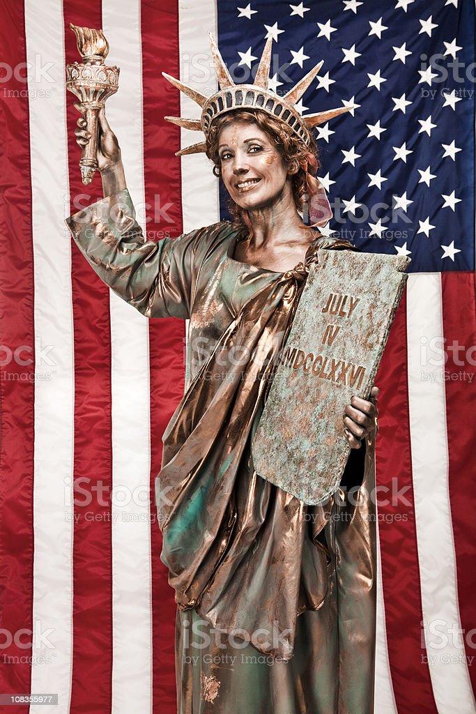 Patriotic Lady Liberty royalty-free stock photo