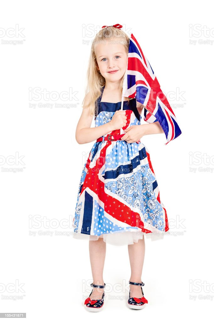 Patriotic Little Girl royalty-free stock photo