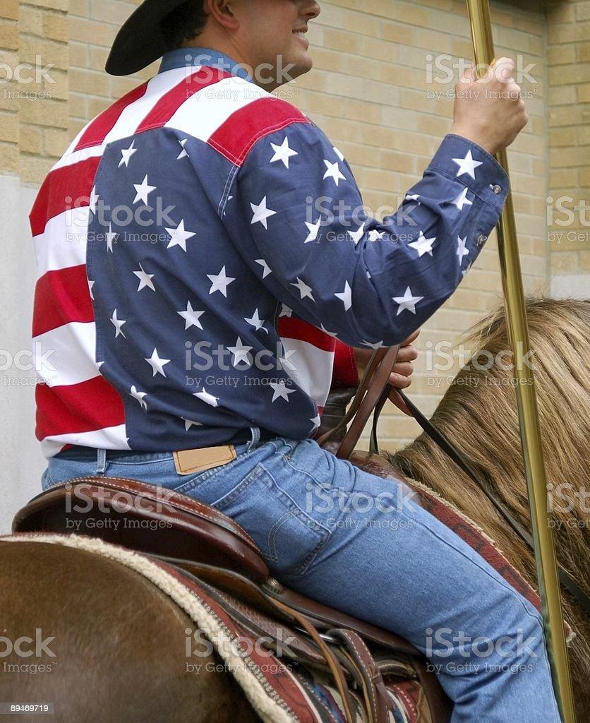 Patriotic Mens Western Shirt/Clothing stock photo