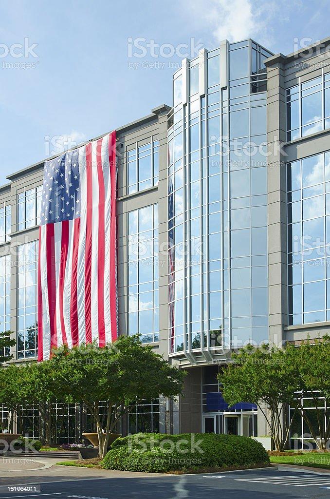 Patriotic Office Building royalty-free stock photo