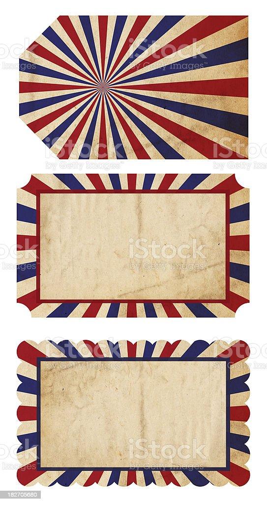 Patriotic Paper Tags - XXXL stock photo